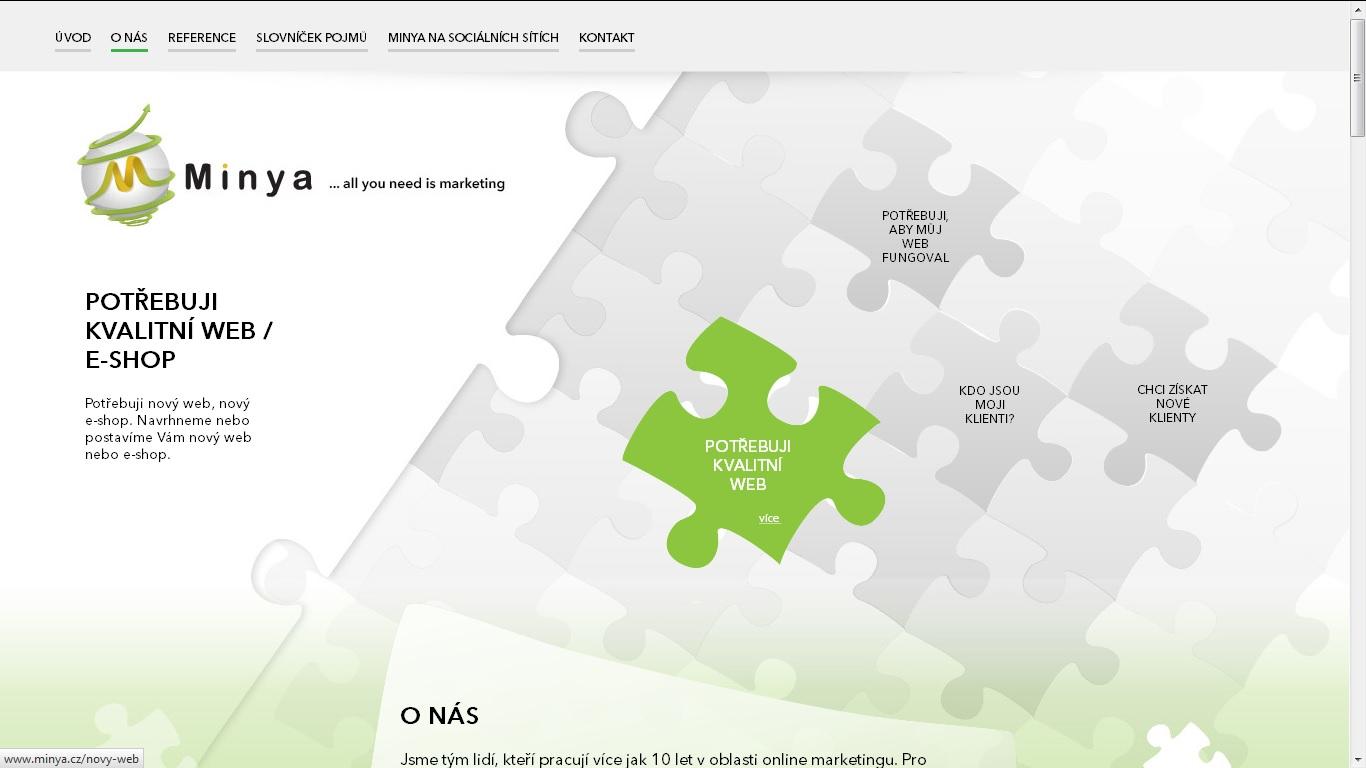 Minya Marketing - web společnosti