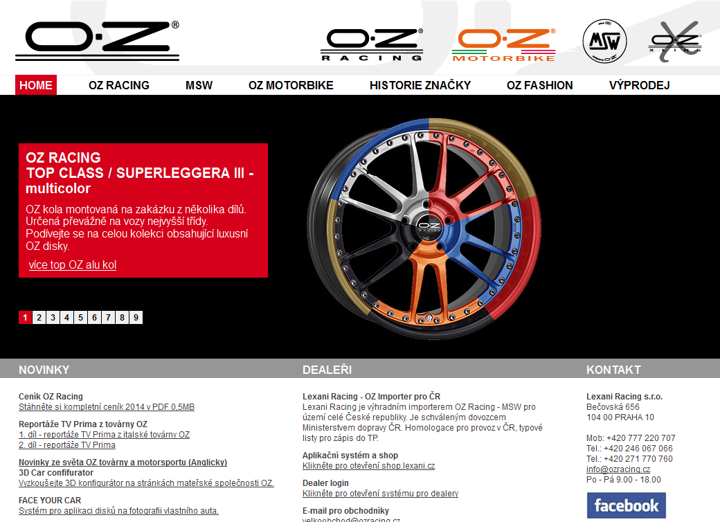 OZ Racing web