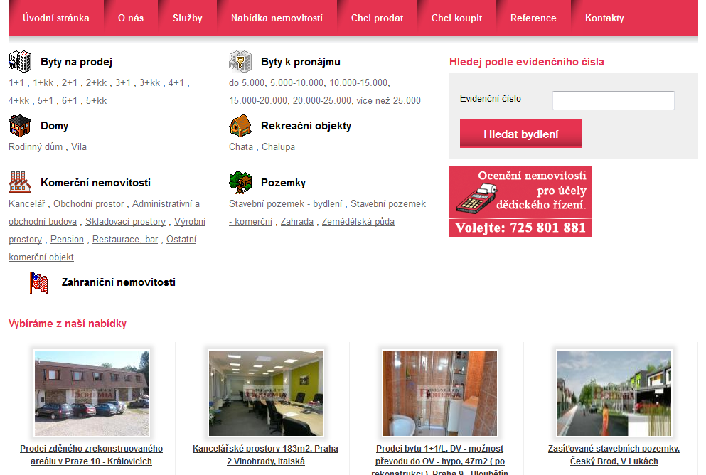 Bohemia Reality - realitní kancelář Praha 7 - web