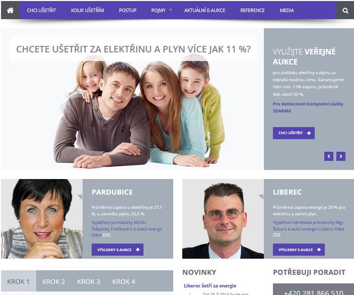 tvorba webové stránky pro Setrime-lidem.cz