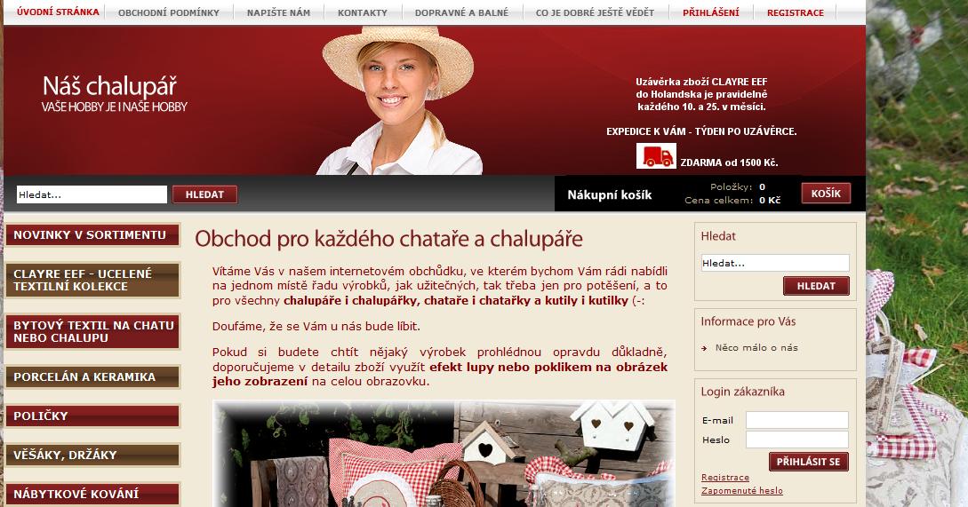 Eshop naschalupar.cz reference