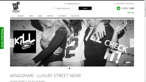 Wingsfame.cz - luxury streetwear móda eshop homepage