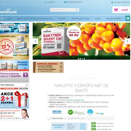 Nef de Santé doplňky stravy Clocan Marketing